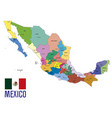 political map of mexico vector image vector image