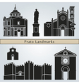 Prato landmarks and monuments vector image vector image