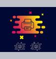 printer icon printout device sign vector image