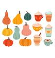 pumpkin season creative simple pumpkins ripe vector image vector image