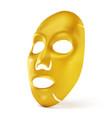 realistic golden facial mask vector image vector image