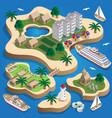 resort is on islands vector image vector image