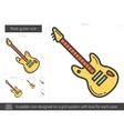 Rock guitar line icon vector image vector image