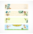 School kids education banners vector image vector image