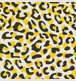 seamless leopard pattern design animal print vector image vector image