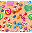 seamless pattern candies vector image vector image