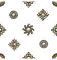 seamless pattern from textile embroidered patch vector image vector image