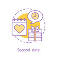 second date concept icon vector image vector image