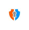 secure lock logo template design vector image
