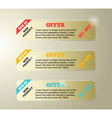 Set of classic banners vector image