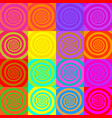 set psychedelic spirals in comic style vector image vector image