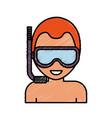 snorkel mask design vector image vector image