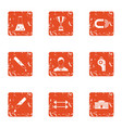 steroid icons set grunge style vector image vector image