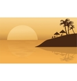Summer holiday in beach silhouette vector image vector image