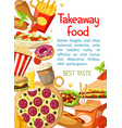 Takeaway fastfood meals poster