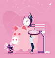 time management planning save concept vector image