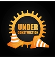 under construction isolated icon design vector image vector image