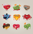 valentines hearts icons set vector image vector image