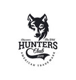 vintage wolf logo template image vector image vector image