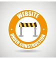 web site construction tool vector image vector image