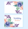 wedding ornament floral decorative greeting card vector image vector image