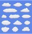 white cartoon clouds vector image vector image
