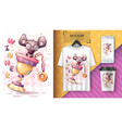 winner mouse - poster and merchandising vector image vector image
