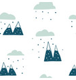 winter seamless landscape pattern vector image vector image