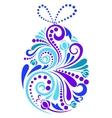 Easter floral egg vector image