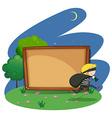 Empty board with thief design vector image