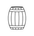 a barrel of wine or beer icon vector image vector image