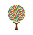 abstract tree concept of vibrant color texture vector image vector image