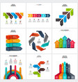 arrows infographics elements set vector image vector image