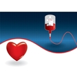 Background of concept of blood donation vector image vector image