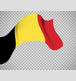 belgium flag on transparent background vector image vector image