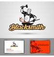 blacksmith logo smithy or farrier forge vector image vector image