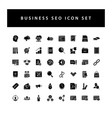 business seo icon set with black color glyph vector image