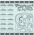 Calendar in aztec style with hieroglyphs vector image vector image