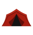 Camping tent icon flat style vector image vector image