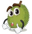 cartoon jackfruit vector image vector image