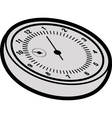 cartoon stopwatch vector image vector image