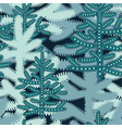 christmas seamless pattern with stylized snowy vector image