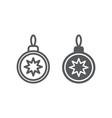 christmas tree ball line and glyph icon xmas and vector image vector image