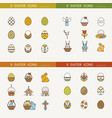 collection of cute easter icons image vector image