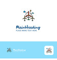 creative air turbine logo design flat color logo vector image vector image