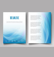 design brochure template with blue waves on a vector image vector image