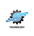 digital tech - business logo template vector image vector image