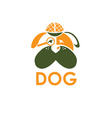 dog in Sherlock Holmes hat design template vector image