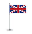 english flag on the metallic pole vector image vector image