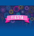 fiesta fireworks and celebration background vector image vector image